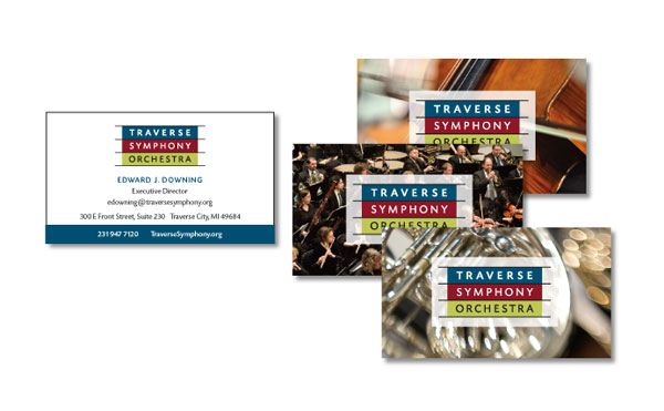 Business stationery for the Traverse Symphony Orchestra