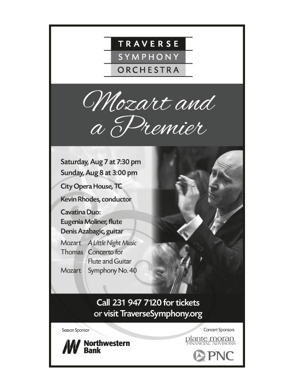 Print ad for the Traverse Symphony Orchestra