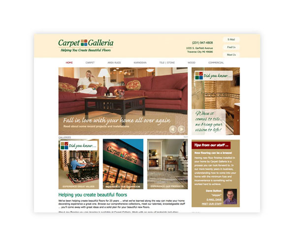 Carpet Galleria website home page